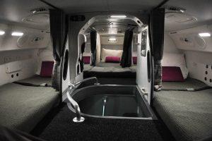 cabin crew secret bed room