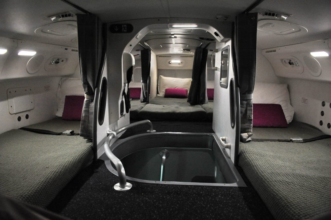 cabin crew secret bed room