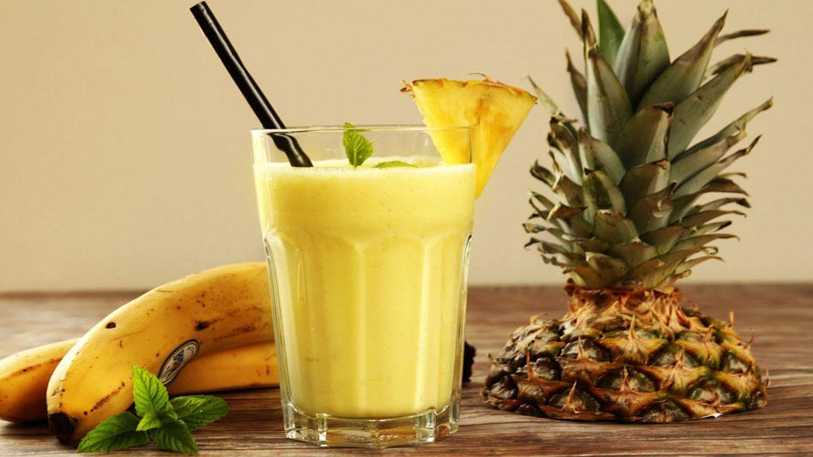 buah pisang dan nanas